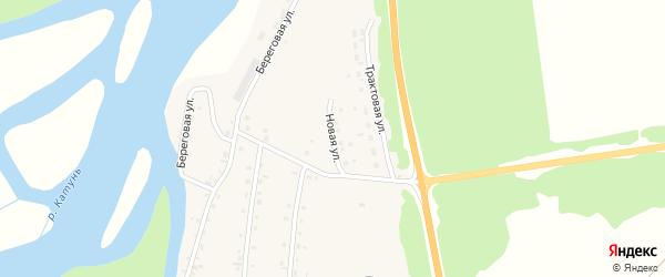 Новая улица на карте села Быстрянки с номерами домов