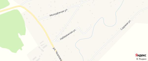 Набережная улица на карте села Шалапа с номерами домов