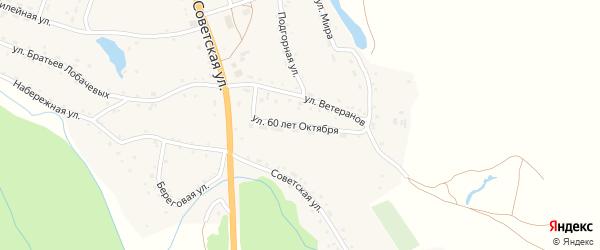 Улица 60 лет Октября на карте села Березовки с номерами домов