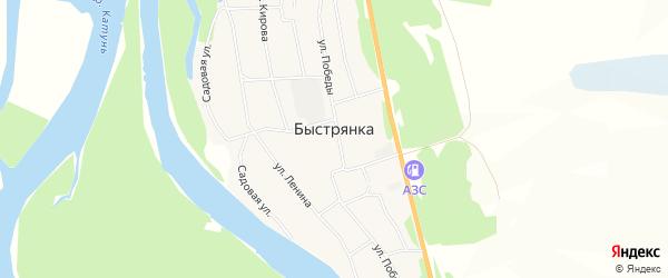 Карта села Быстрянки в Алтайском крае с улицами и номерами домов