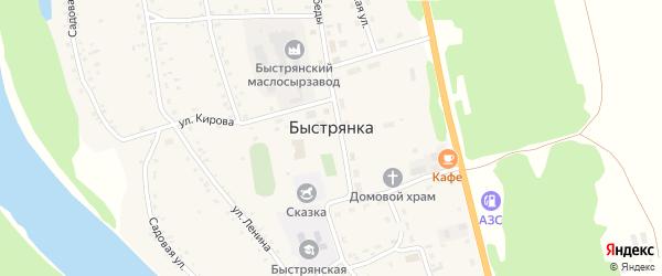 Луговая улица на карте села Быстрянки с номерами домов