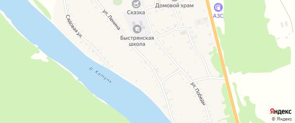 Улица Ленина на карте села Быстрянки с номерами домов