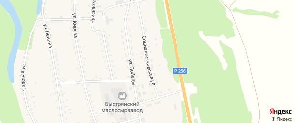 Социалистическая улица на карте села Быстрянки с номерами домов