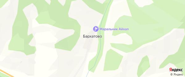 Карта села Бархатово в Алтае с улицами и номерами домов