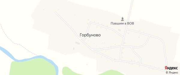 Центральная улица на карте села Горбуново с номерами домов