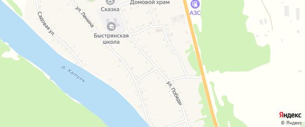 Улица Победы на карте села Быстрянки с номерами домов