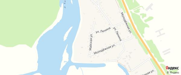 Майская улица на карте села Быстрянки с номерами домов