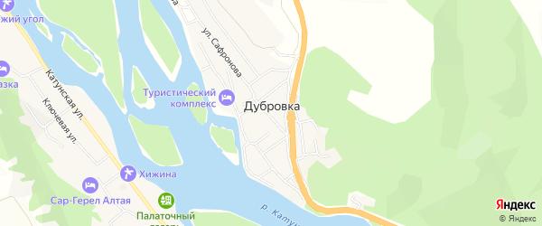 Карта поселка Дубровки в Алтае с улицами и номерами домов