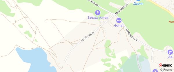Улица Пучина на карте поселка Катуня с номерами домов