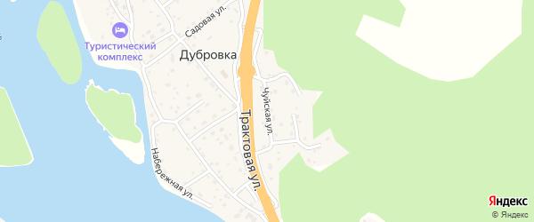 Чуйская улица на карте поселка Дубровки с номерами домов