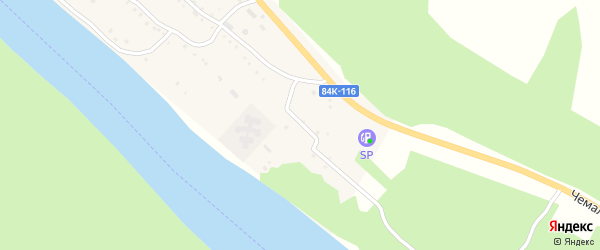 Молодежная улица на карте села Чепош с номерами домов