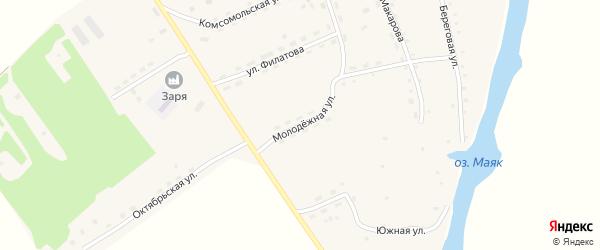 Молодежная улица на карте села Антипино с номерами домов