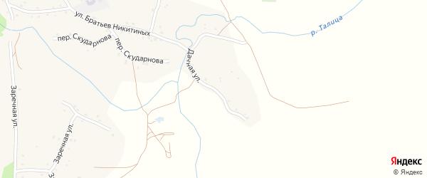 Дачная улица на карте села Березовки с номерами домов