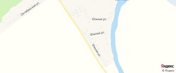 Южная улица на карте села Антипино с номерами домов