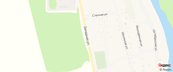 Западная улица на карте села Шульгина Лога с номерами домов