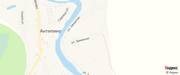 Улица Замаячье на карте села Антипино с номерами домов