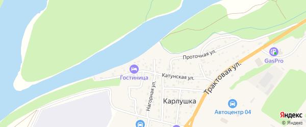 Береговой переулок на карте Горно-Алтайска с номерами домов