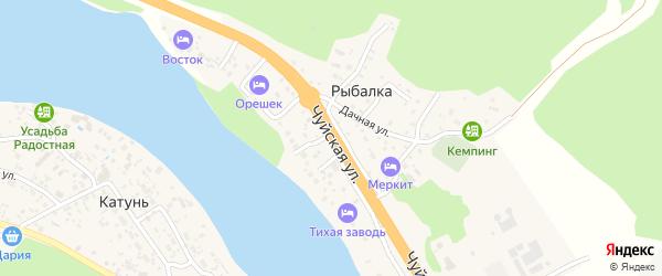 Чуйская улица на карте поселка Рыбалки с номерами домов