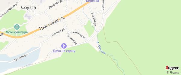 Подгорная улица на карте села Соузги с номерами домов