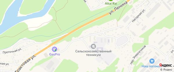 Улица 50 лет Победы на карте села Майма с номерами домов