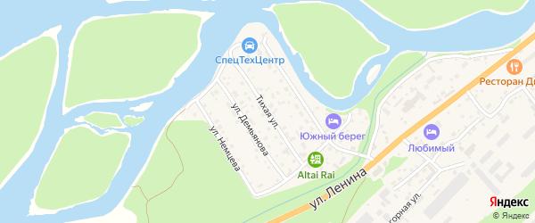 Тихая улица на карте села Майма с номерами домов