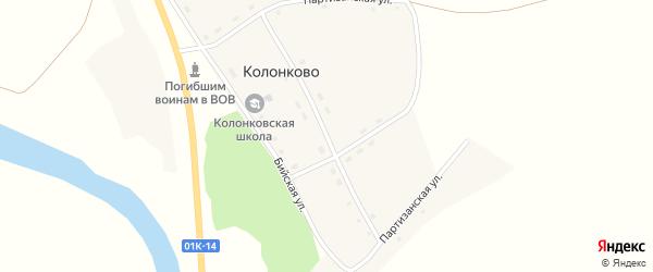 Молодежная улица на карте села Колонково с номерами домов