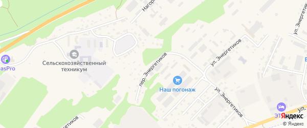 Переулок Энергетиков на карте села Майма с номерами домов