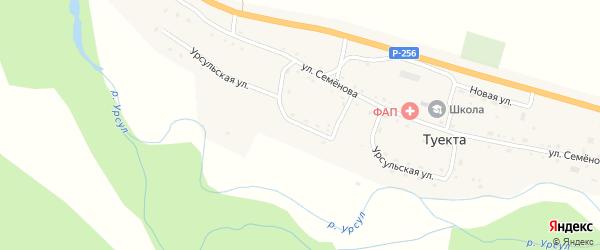 Урсульская улица на карте села Туекты с номерами домов