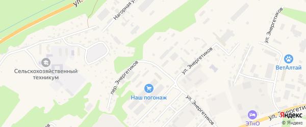 Улица Энергетиков на карте села Майма с номерами домов