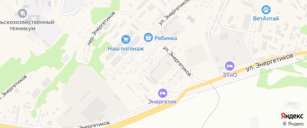 1-я Пушкинская улица на карте села Майма с номерами домов