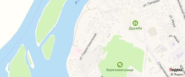 Улица Гидростроителей на карте села Майма с номерами домов