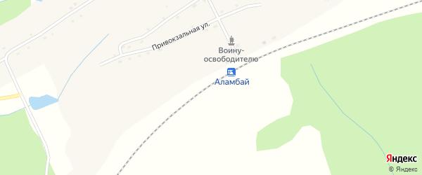 Улица Строителей на карте станции Аламбая с номерами домов