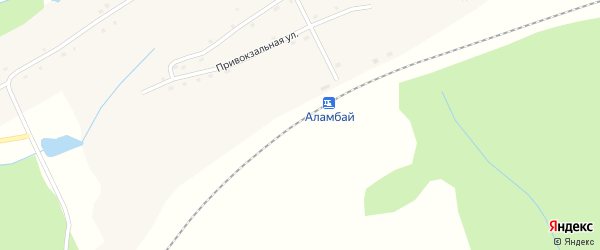 Алтайская улица на карте станции Аламбая с номерами домов