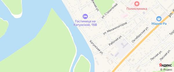 Катунская улица на карте села Майма с номерами домов