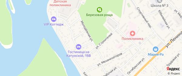 Молодежная улица на карте села Майма с номерами домов