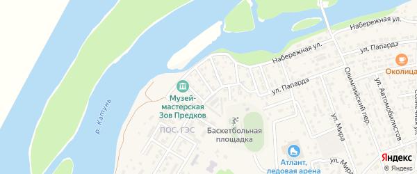 Славянская улица на карте села Майма с номерами домов