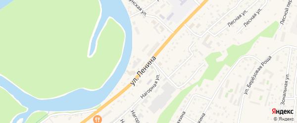 Улица Ленина на карте села Майма с номерами домов
