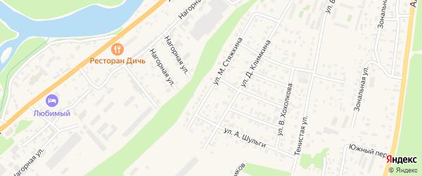 Улица М.Стяжкина на карте села Майма с номерами домов