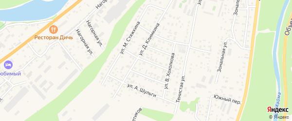 Ойротский переулок на карте села Майма с номерами домов