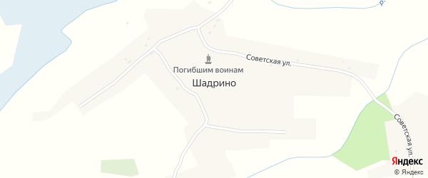 Советская улица на карте села Шадрино с номерами домов
