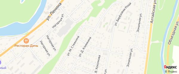 Улица Д.Климкина на карте села Майма с номерами домов