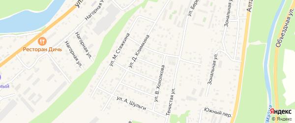 Переулок В.Вербицкого на карте села Майма с номерами домов