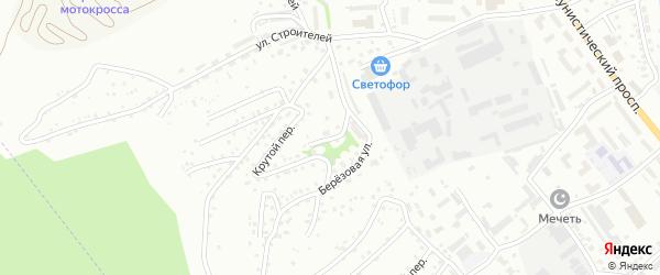 Случайный переулок на карте Горно-Алтайска с номерами домов