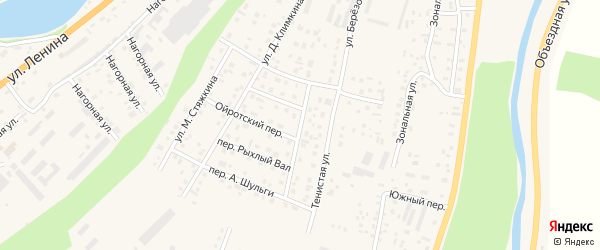 Улица В.Хохолкова. на карте села Майма с номерами домов