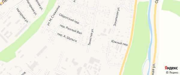 Тенистая улица на карте Горно-Алтайска с номерами домов