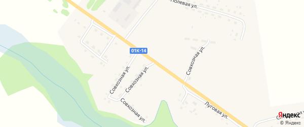 Совхозная улица на карте села Тогула с номерами домов