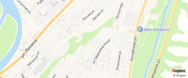 Лазурный переулок на карте села Майма с номерами домов
