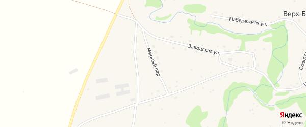Мирный переулок на карте села Верха-Бехтемира с номерами домов
