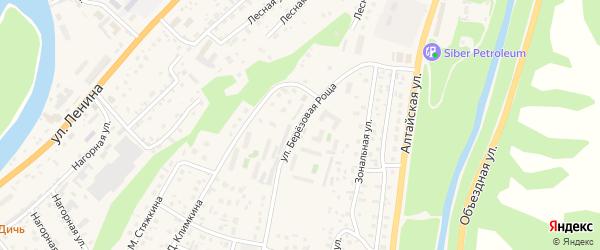 Улица Березовая роща на карте села Майма с номерами домов
