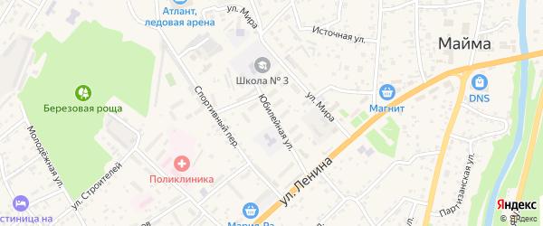 Юбилейная улица на карте села Майма с номерами домов